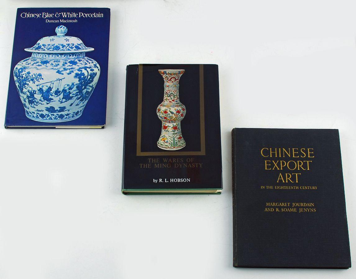 3 livros sobre a porcelana chinesa