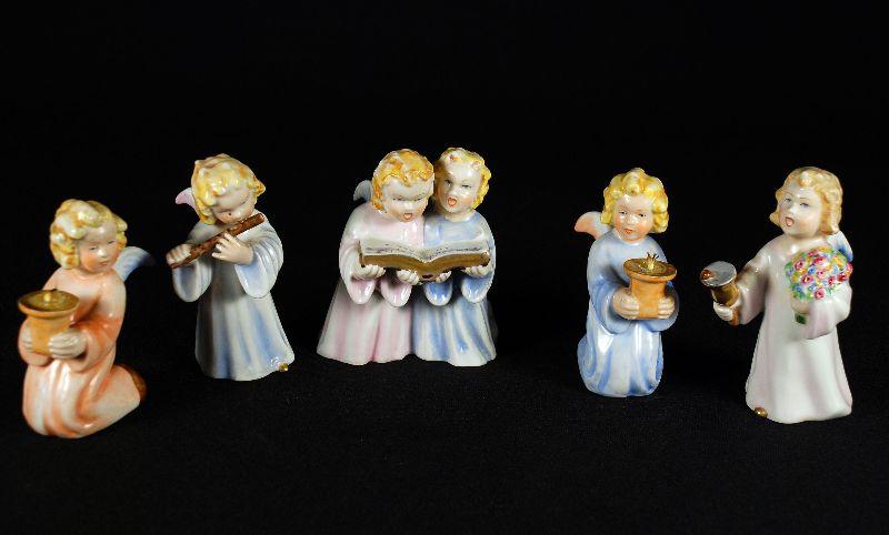 5 Anjos em Porcelana de Aveiro