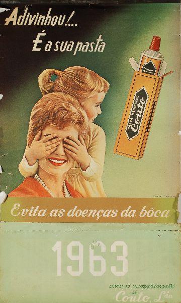 Lote - Dez Calendário da Pasta Medicinal Couto   Bestnet Leilões