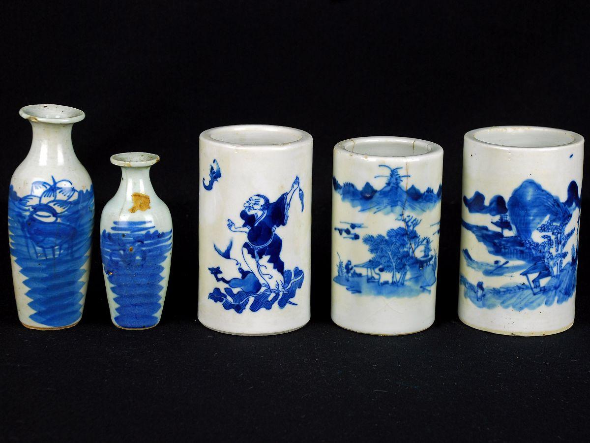 Lote de 5 peças em Porcelana Chinesa