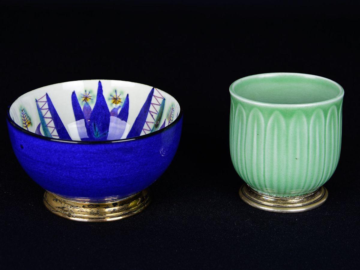 2 Pequenas taças em Porcelana Dinamarquesa