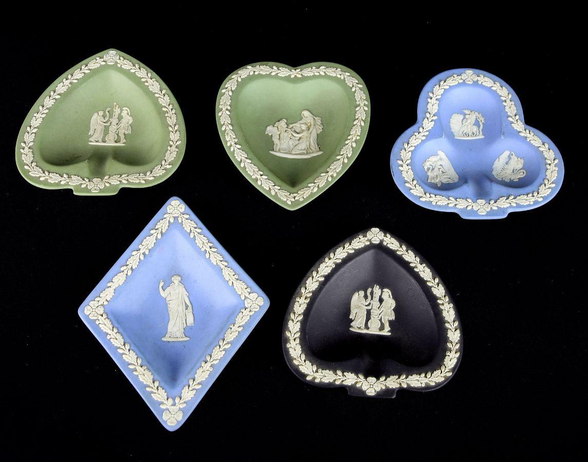5 Cinzeiros em Porcelana de Wedgewood