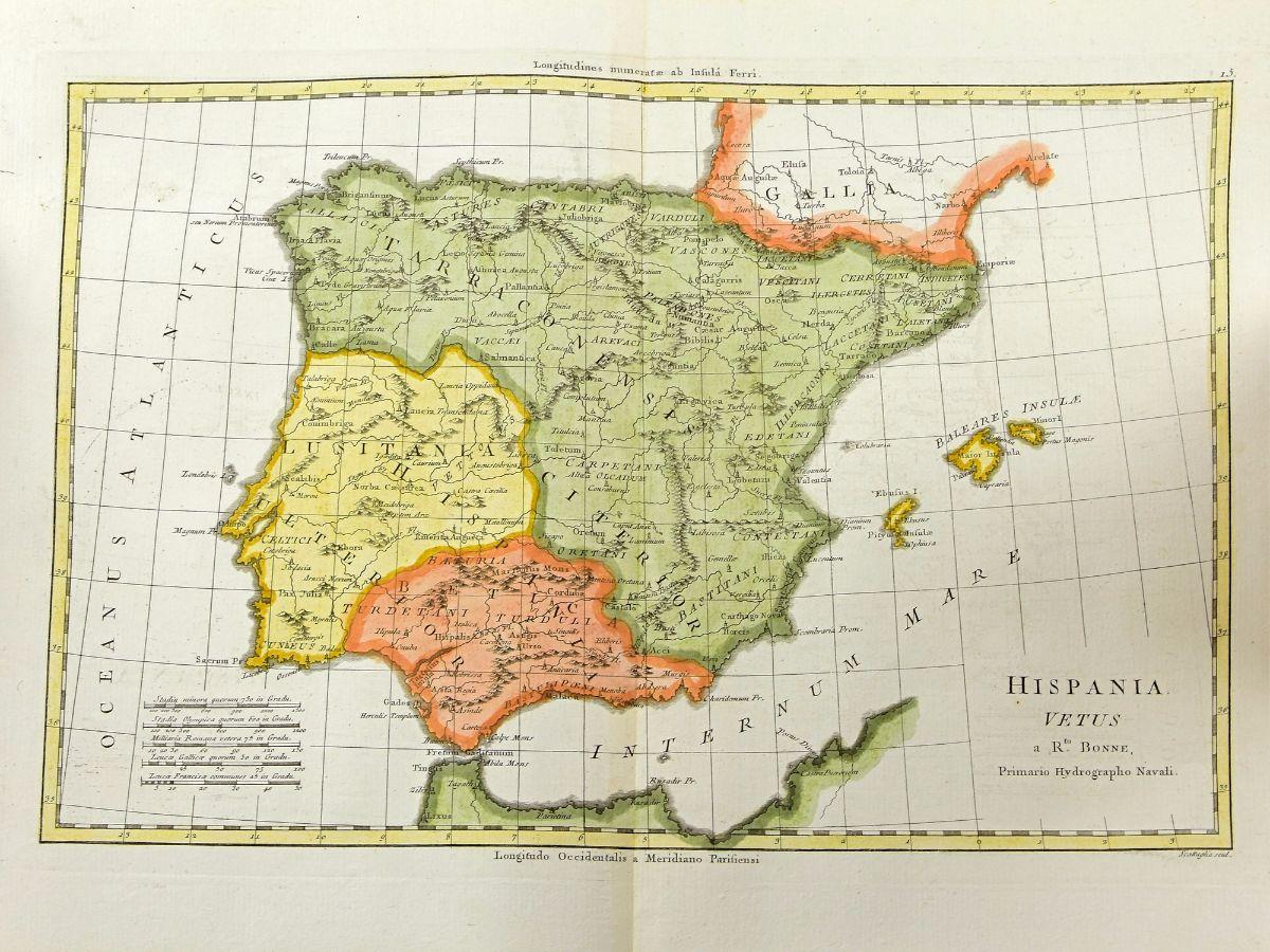 Lote Mapa Da Peninsula Iberica Antiga Bestnet Leiloes