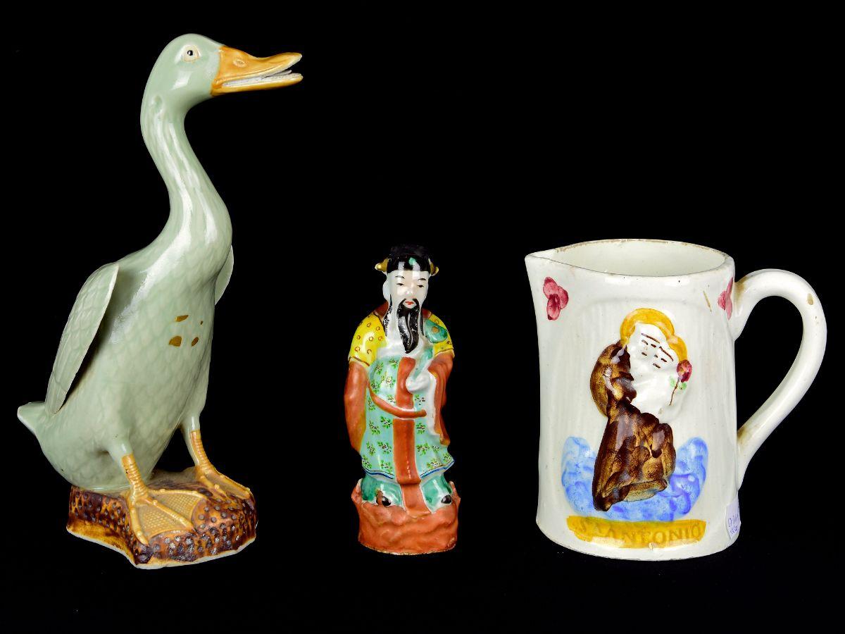 3 Peças em Faiança / Porcelana