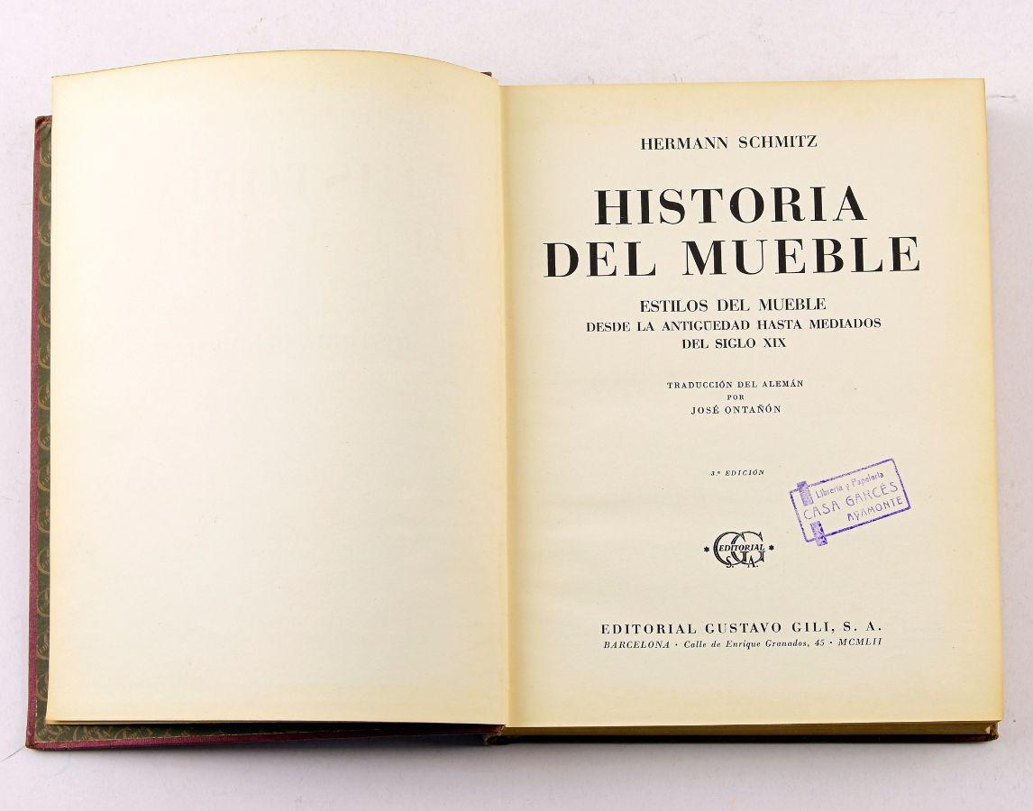 Lote historia del mueble bestnet leil es for Historia del mueble pdf