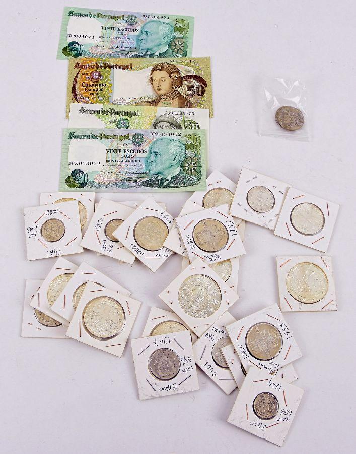 Lote de moedas Portuguesas em prata