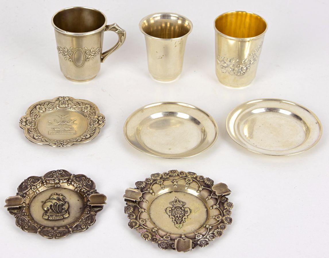 8 Peças em prata Portuguesa