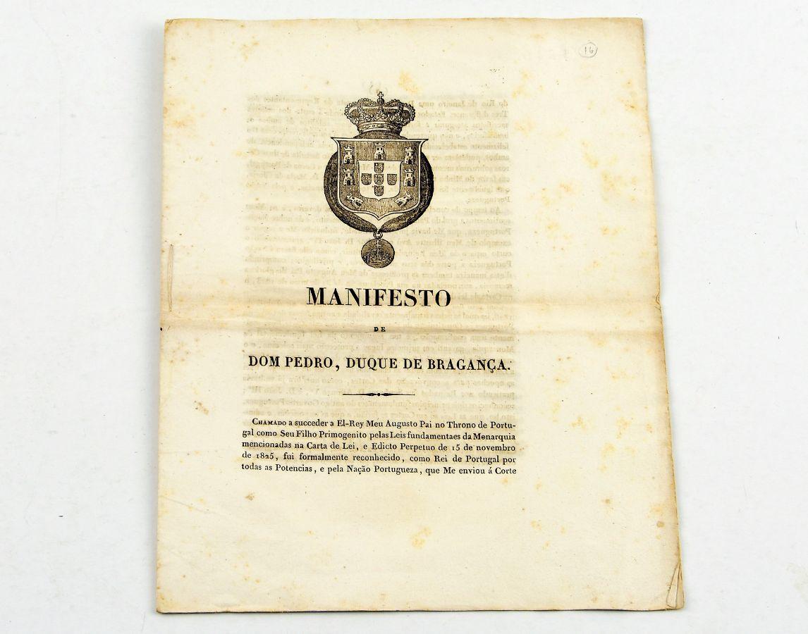 Manifesto de D. Pedro, Duque de Bragança