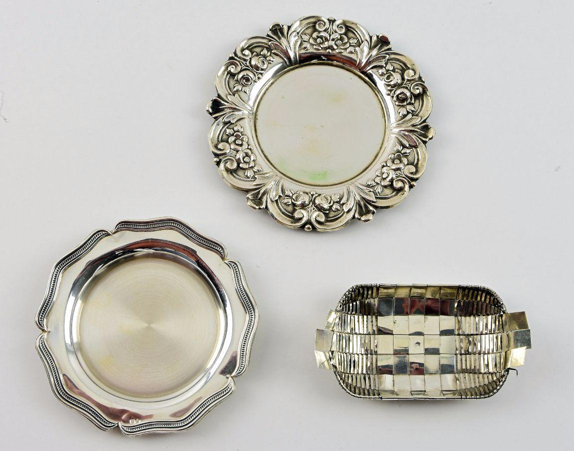 3 Peças de prata