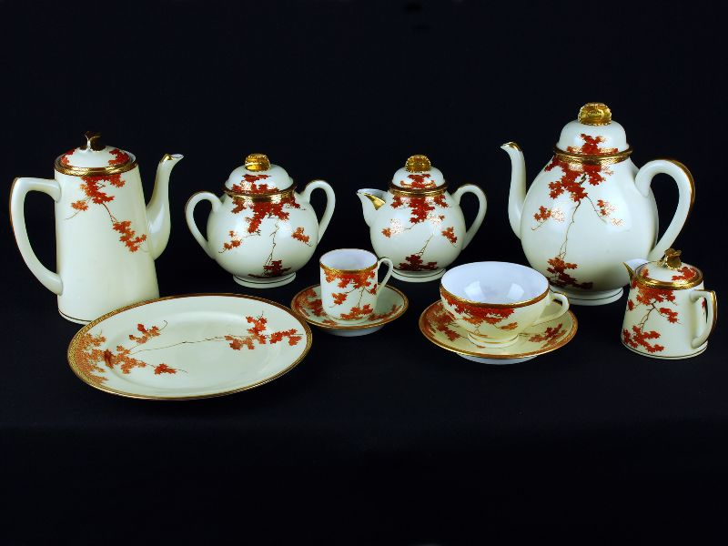 Serviço de Chá e Café em Porcelana Japonesa