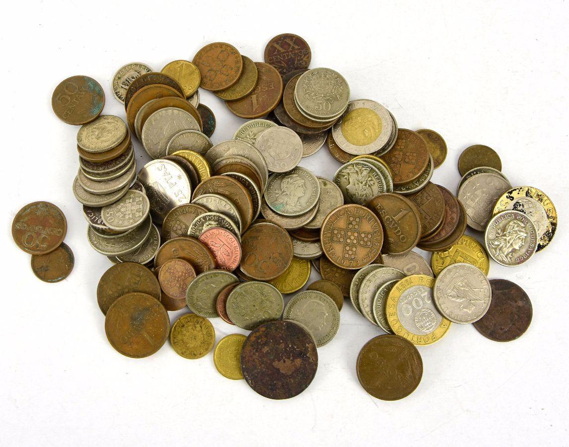 Lote de moedas diversas