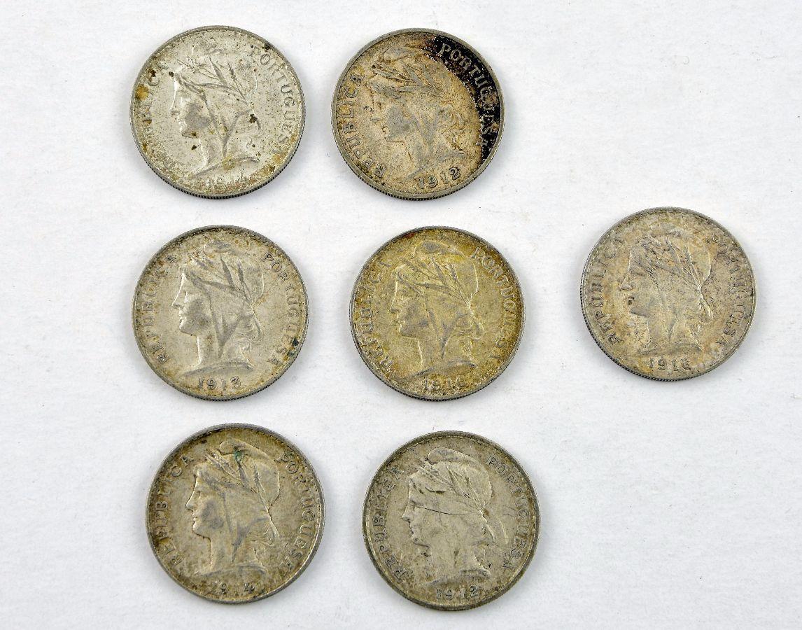 7 Moedas de 50 Centavos