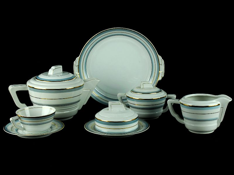 Serviço de Chá em Porcelana