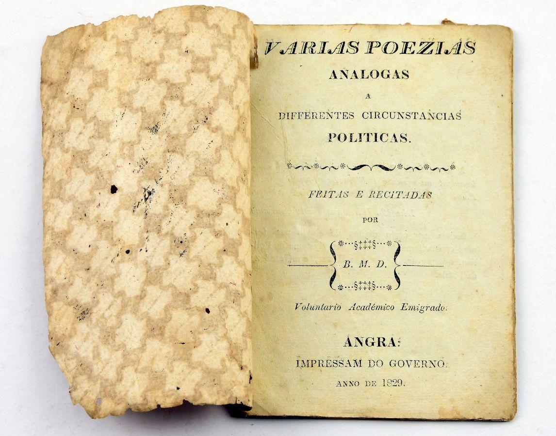 Raríssima publicação em Angra do Heroísmo (1829)