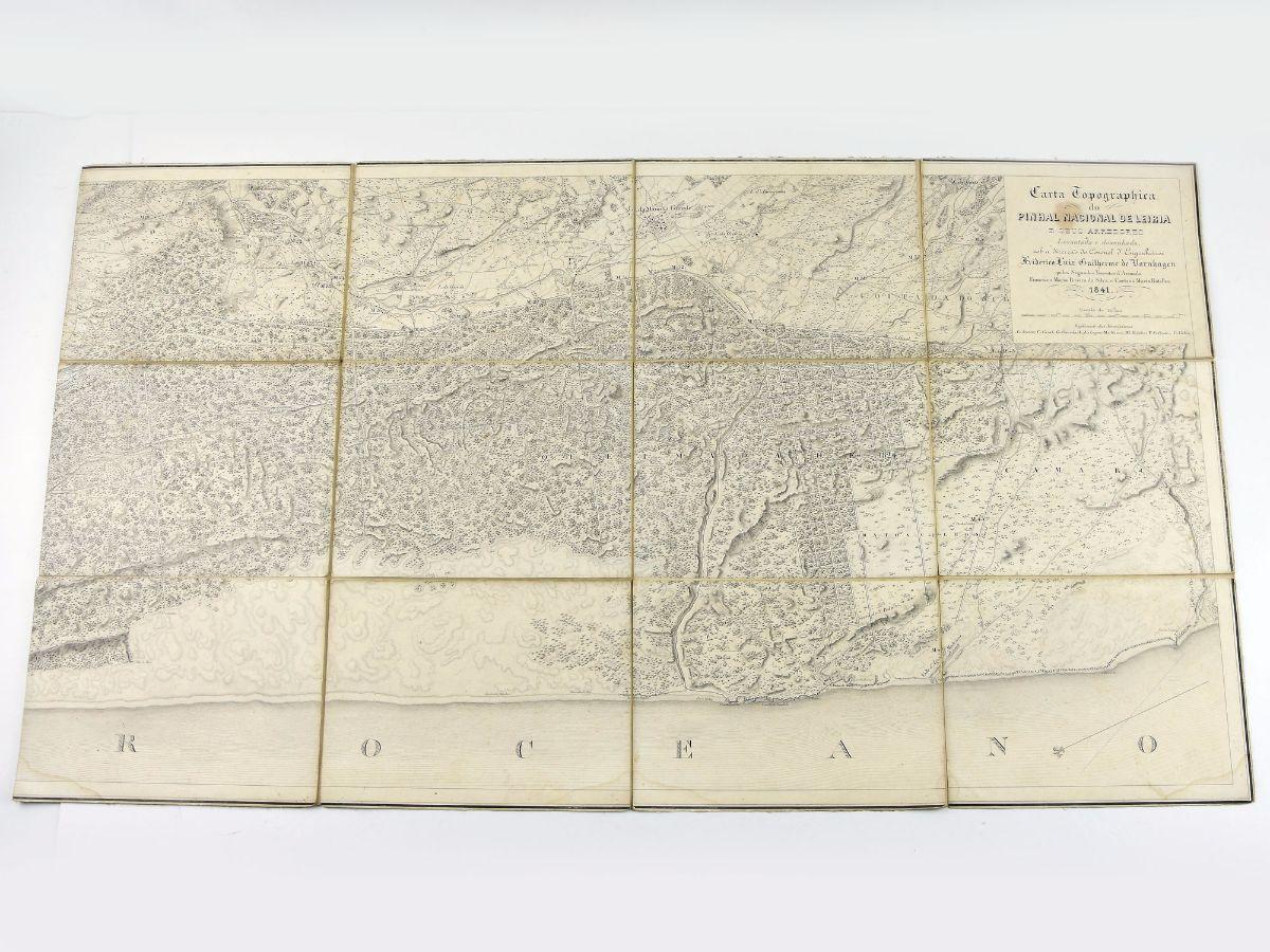 CARTA TOPOGRAPHICA DO PINHAL DE LEIRIA E SEUS ARREDORES. 1841.
