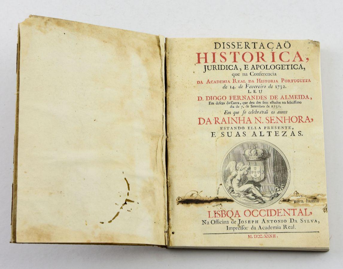 Dissertação Histórica Juridica e Apologetica, 1732
