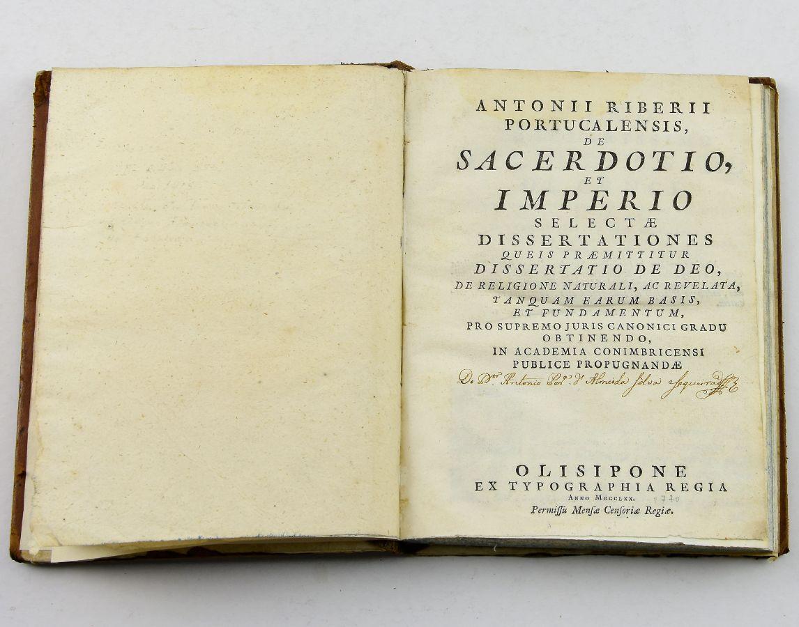 Sacerdotio et Império 1770