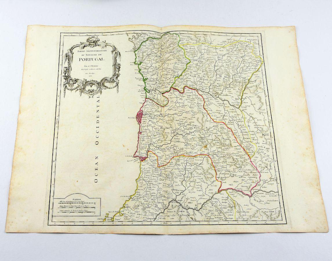 Mapa de Portugal (Partie Septentrionale)