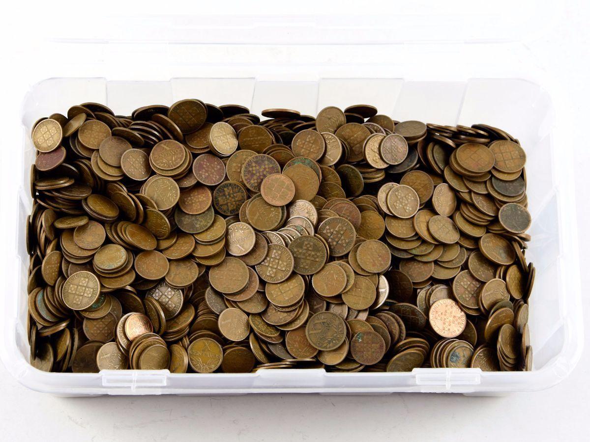 Coleção / acumulação de milhares de moedas antigas Portuguesas