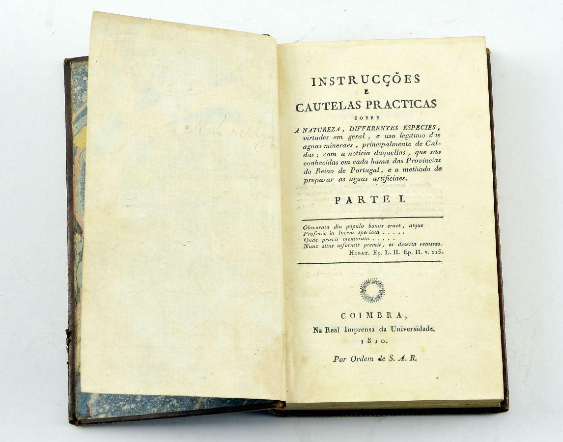 Instrucções e cautelas practicas…sobre águas, 1810