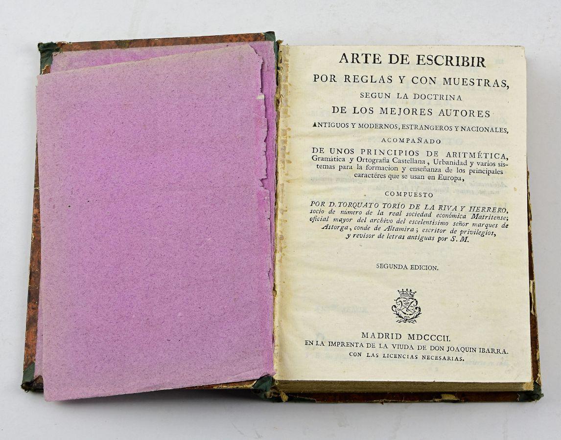 Arte de Escribir, 1802