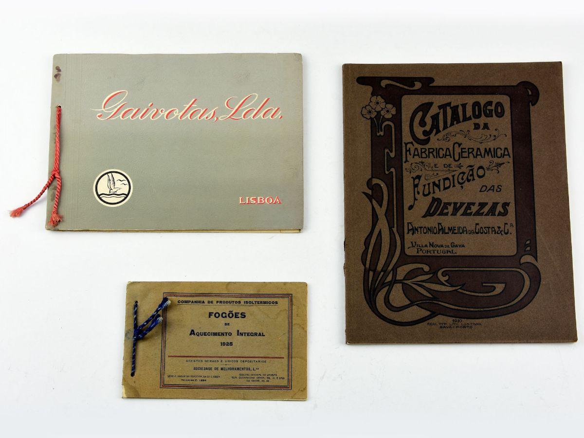 Catálogos antigos cerâmica e design Portuguesa