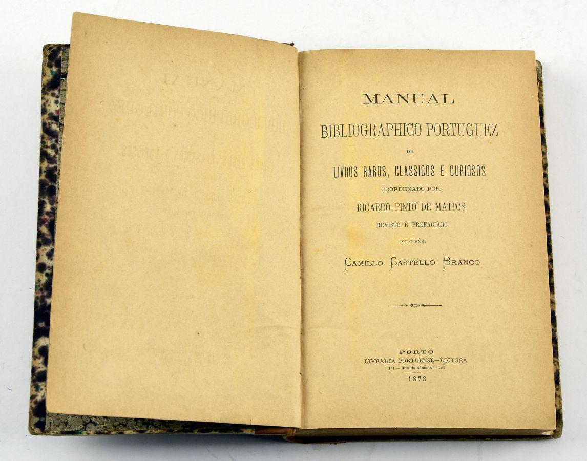 Manual Bibliográfico Portuguez, 1878