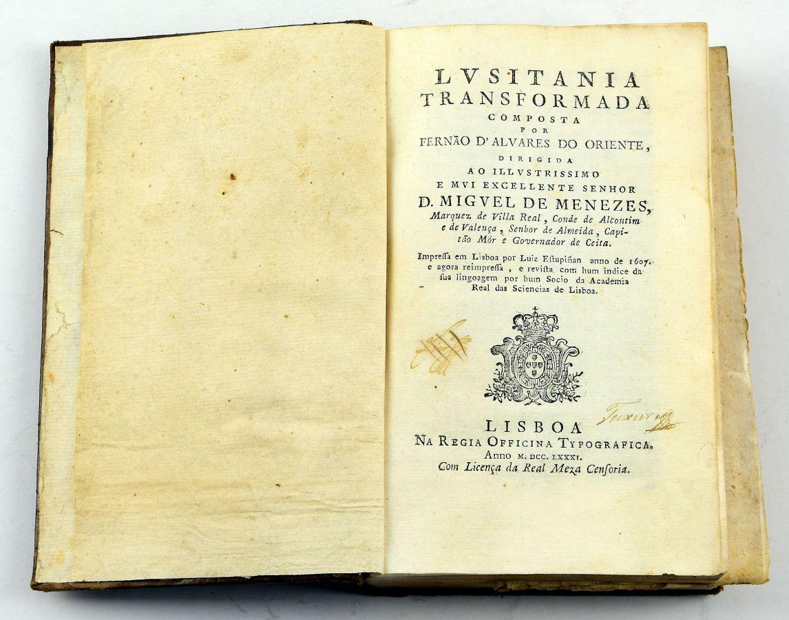 Lusitania Transformada, 1781