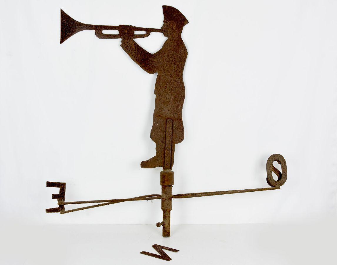 Catavento com figura de Soldado com trompeta