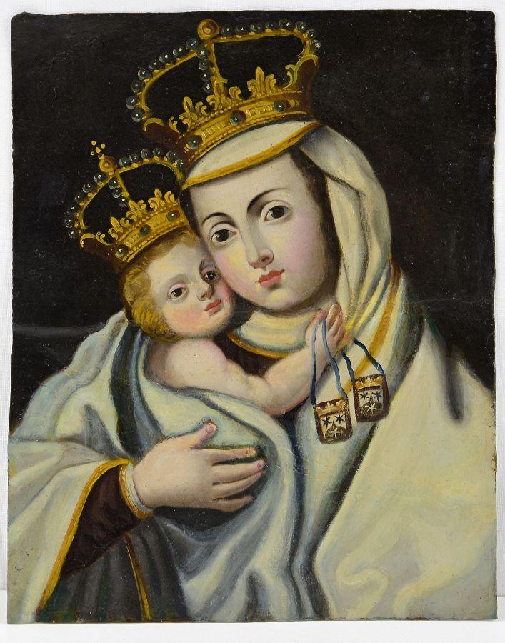 Nossa Senhora com O Menino coroados