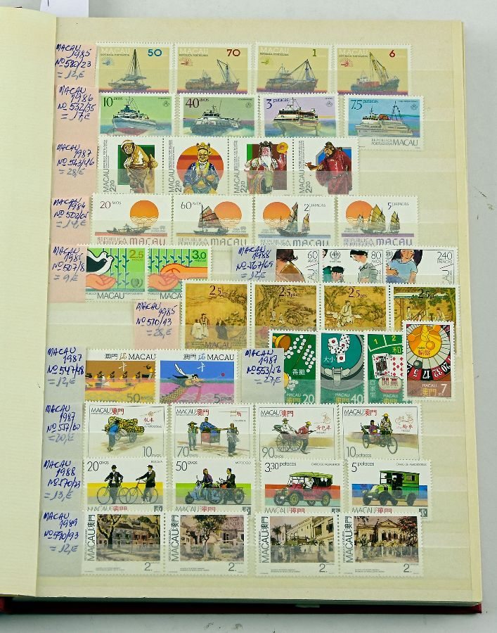 Colecção de selos novos