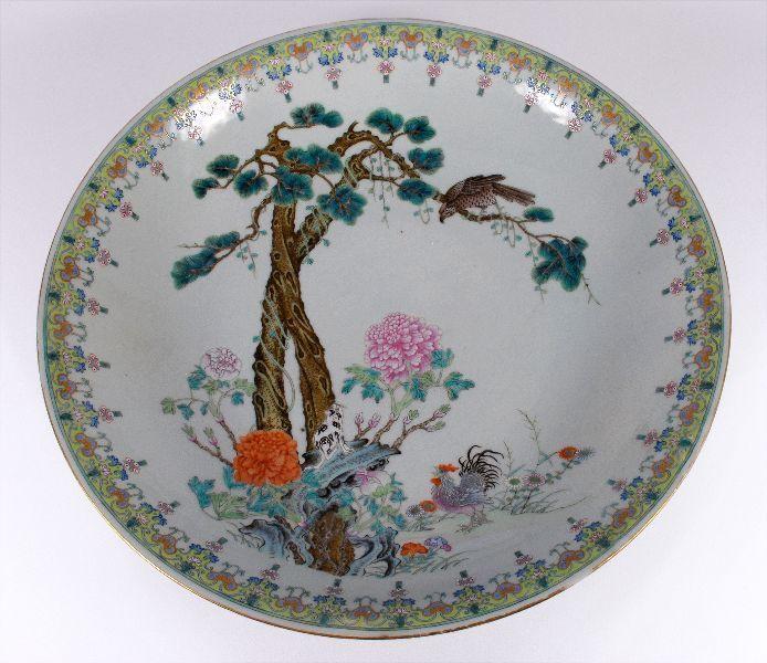 Grande Prato em Porcelana da China