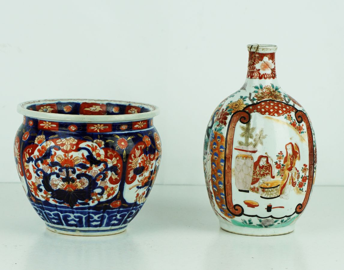 2 Peças em porcelana Japonesa