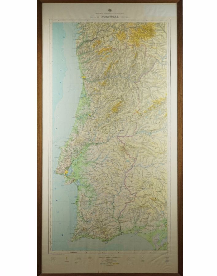 Grande mapa de Portugal