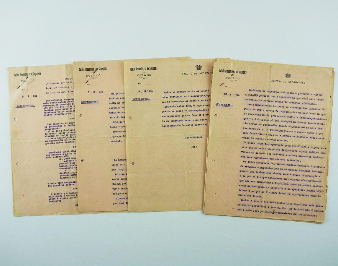 Boletins de Informações da Polícia Preventiva sobre os preparativos do 28 de Maio de 1926