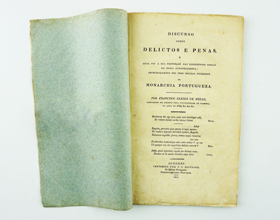 Discurso sobre os Delitos e as Penas (1816)