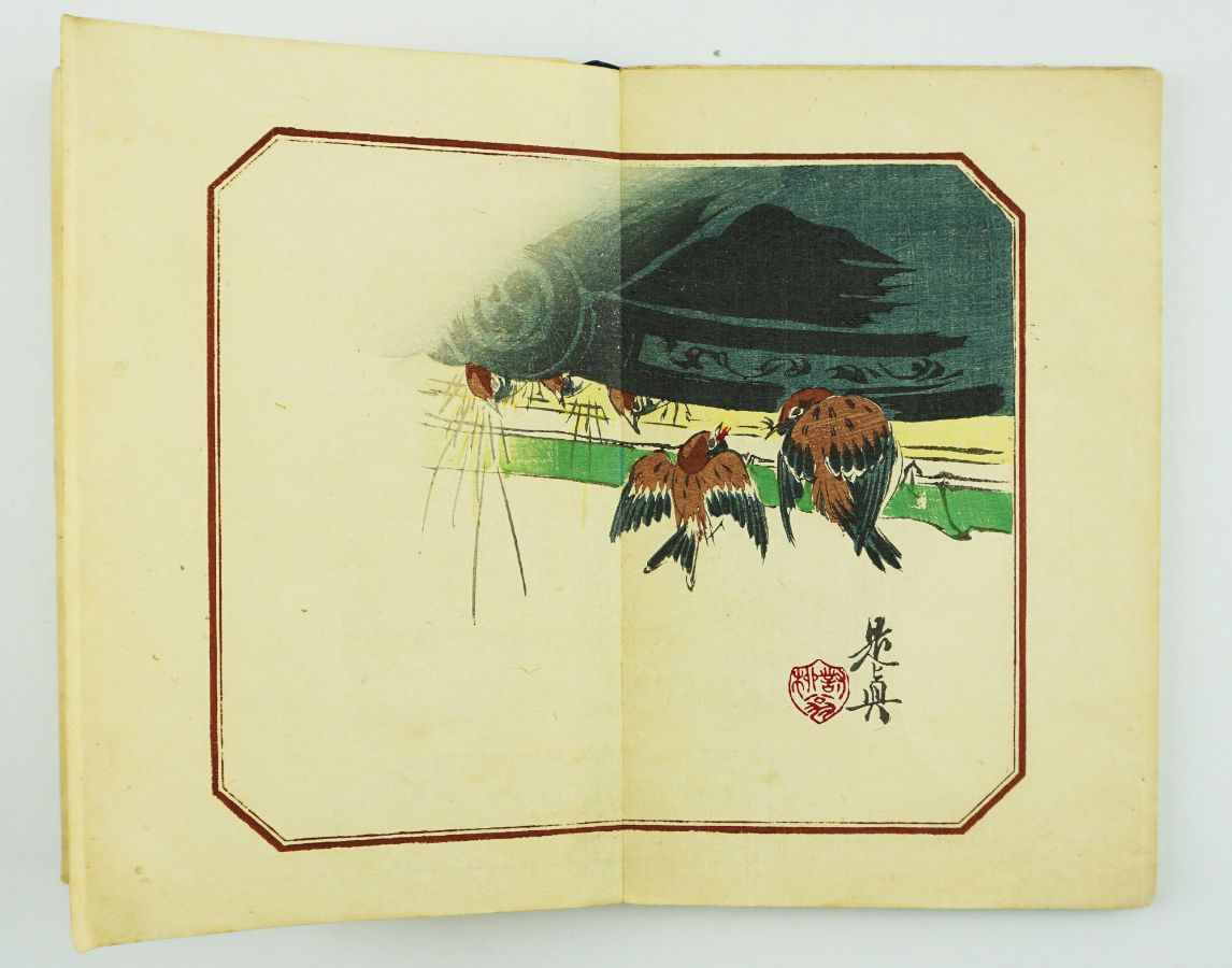 Álbum japonês com gravuras (século XIX)