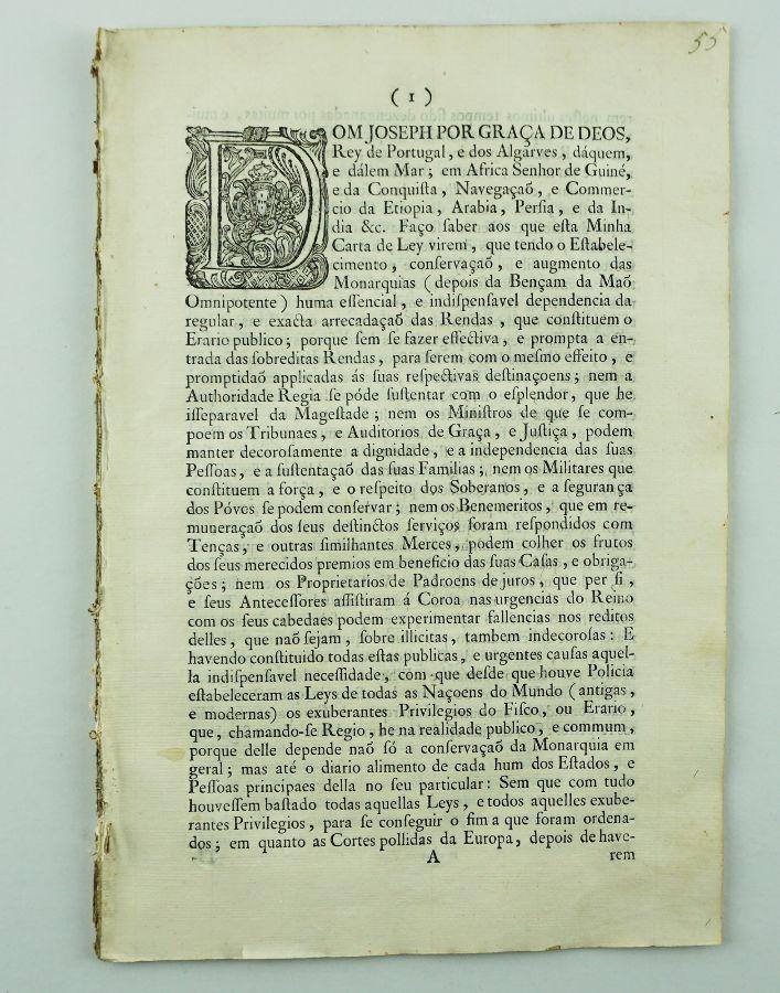 Criação do Real Erário (1761)