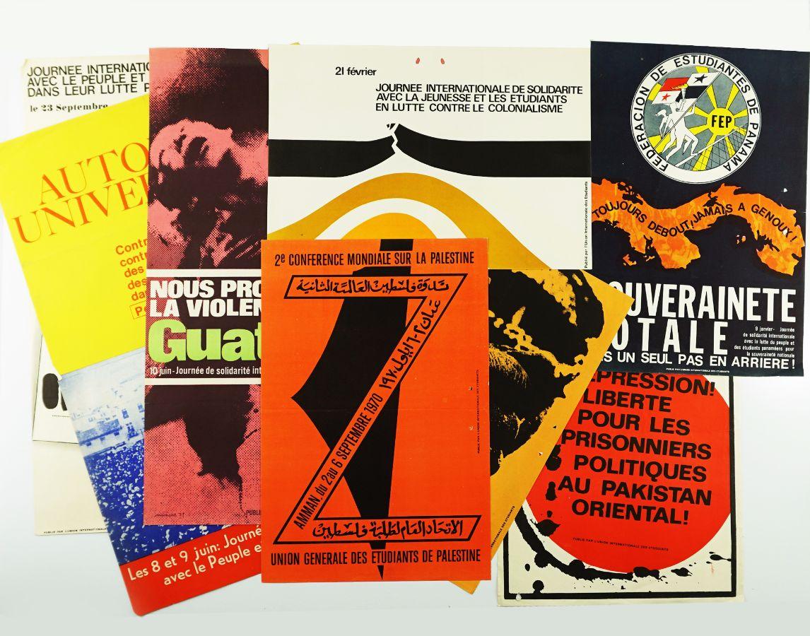 Cartazes da União Internacional de Estudantes (anos sessenta)