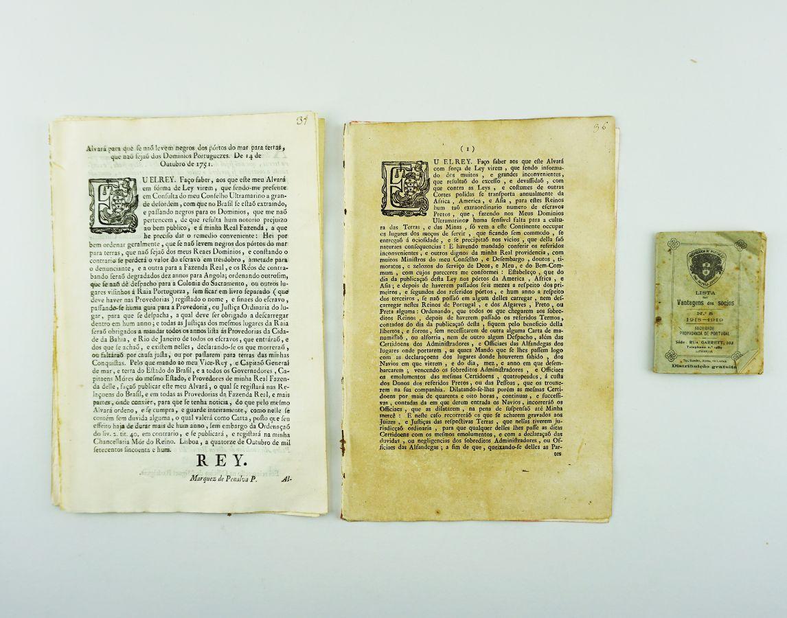 O Marquês de Pombal - Escravatura – legislação original