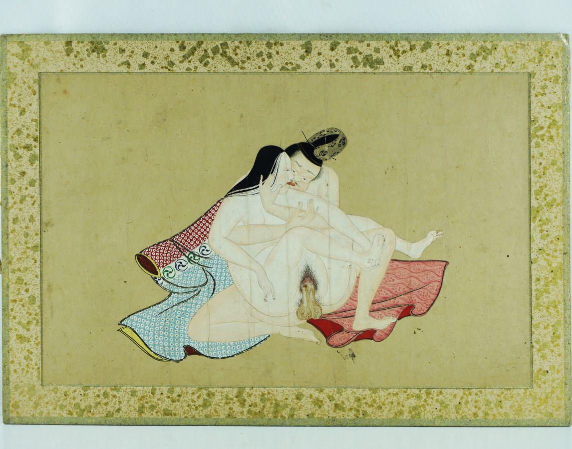 Pintura original erótica japonesa (Shunga)