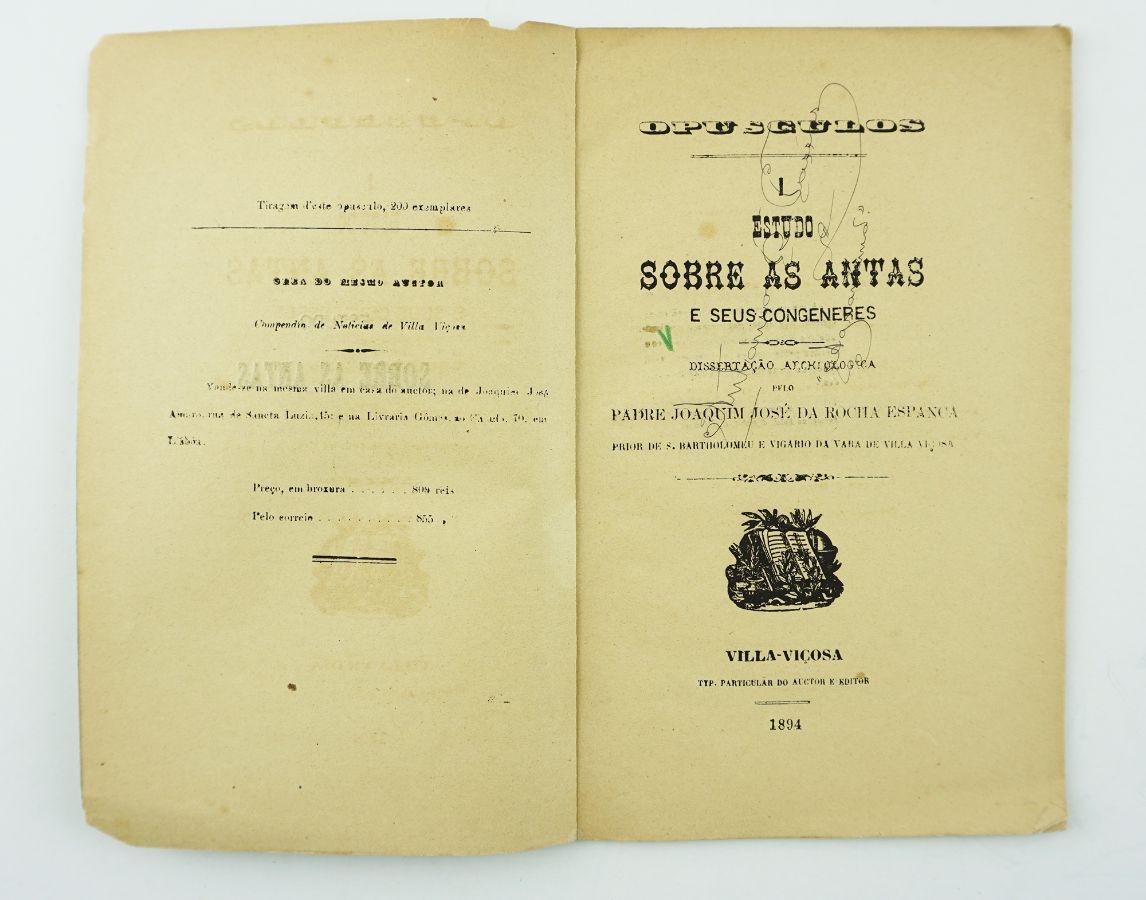 Estudo pioneiro sobre Antas (1896)