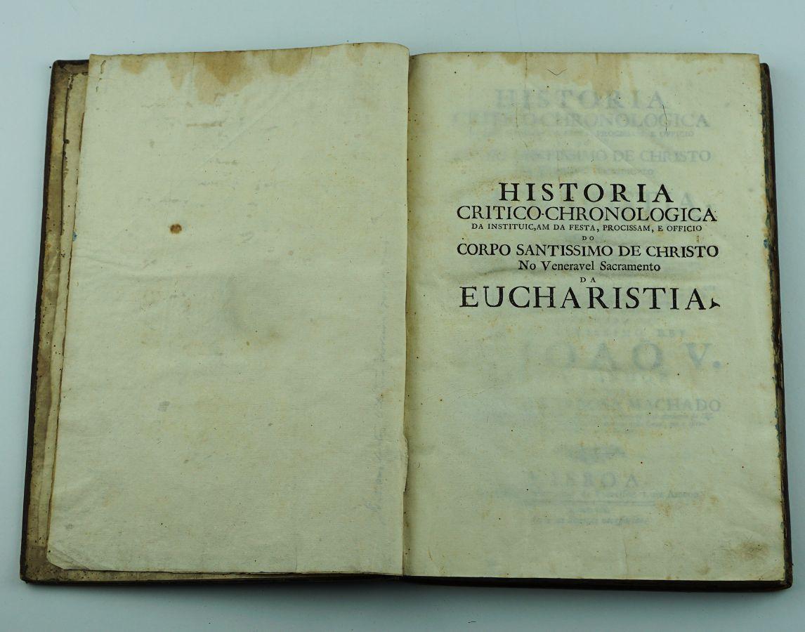 História Critico-Chronologica