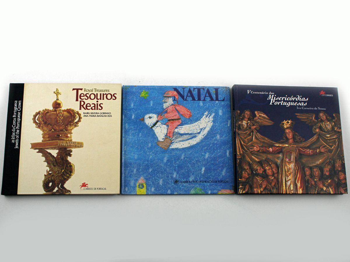 3 Livros de selos CTT