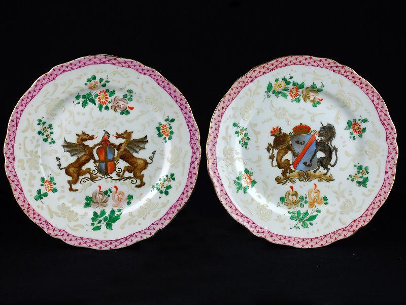 Par de Pratos em Porcelana