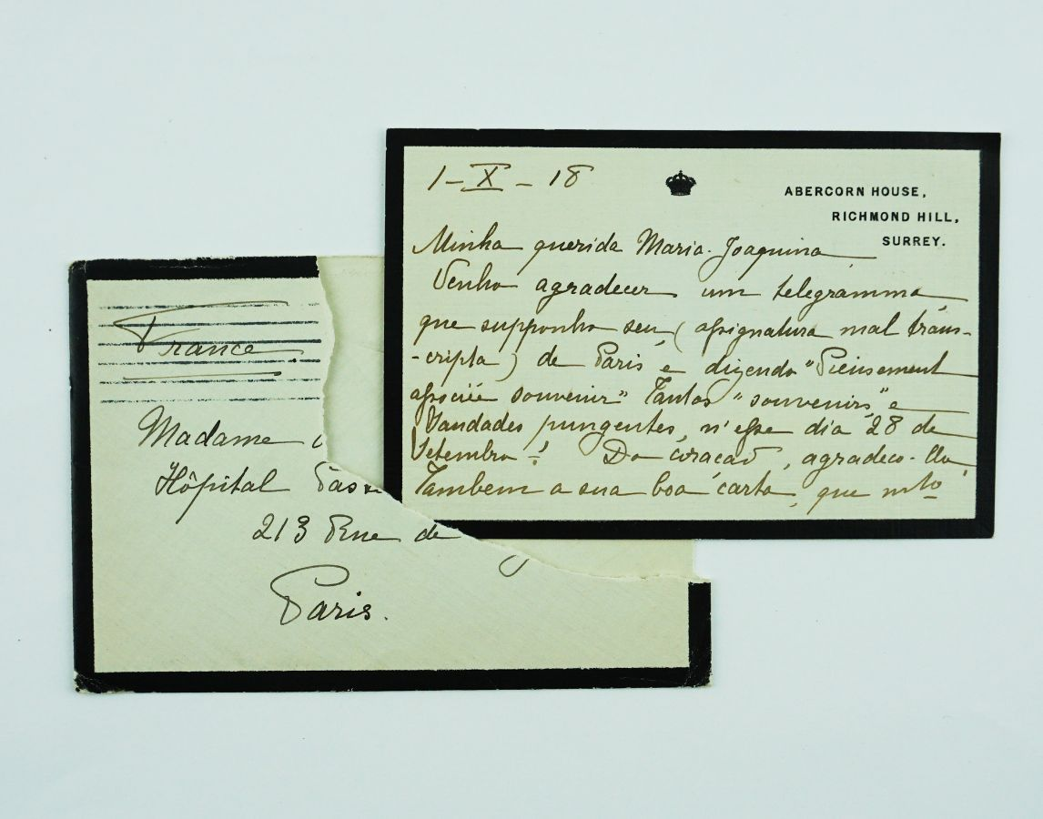 Manuscrito Rainha D. Amélia