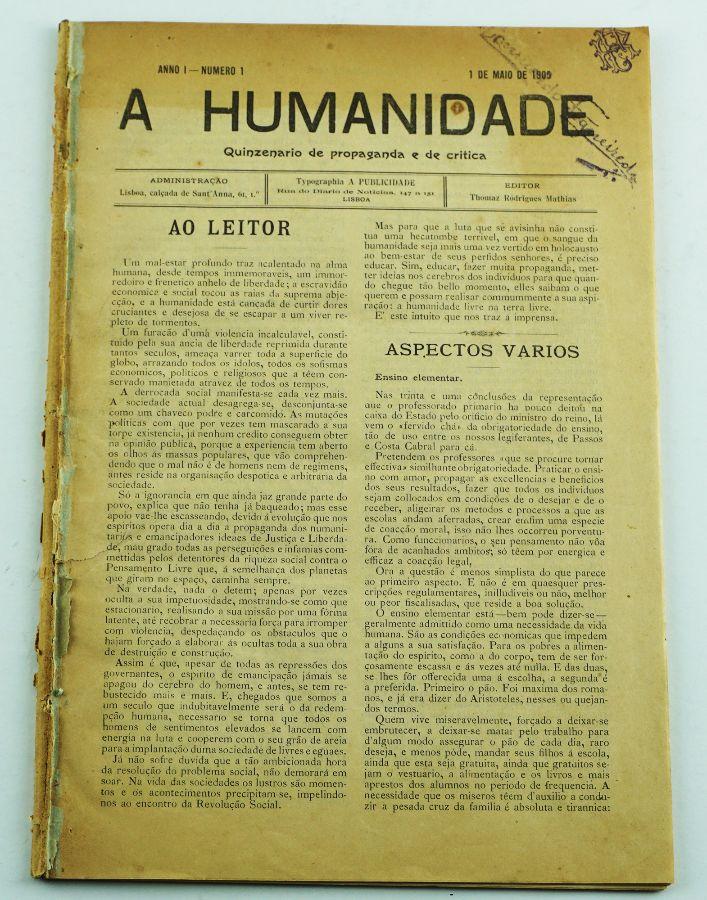 A Humanidade – Jornal anarquista (1905-1906)