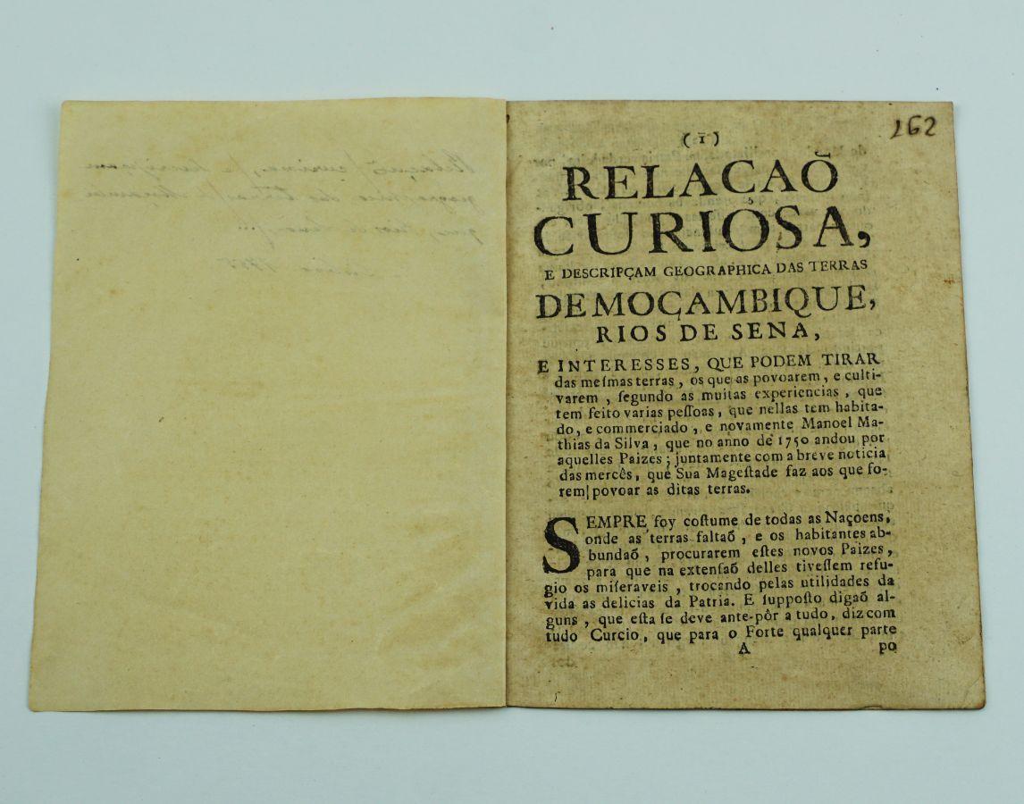 RELAÇÃO SOBRE MOÇAMBIQUE. SÉC. XVIII.