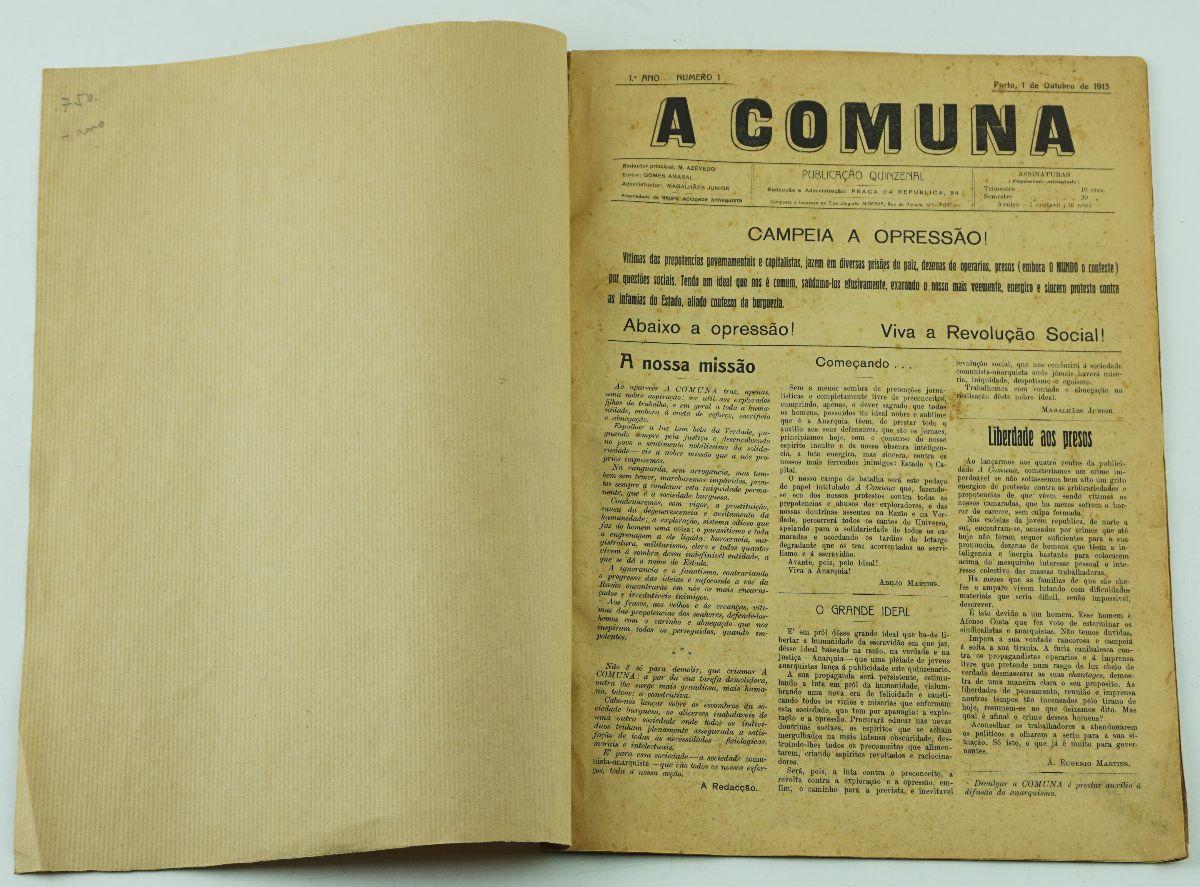 Jornal anarquista A Comuna (1915)
