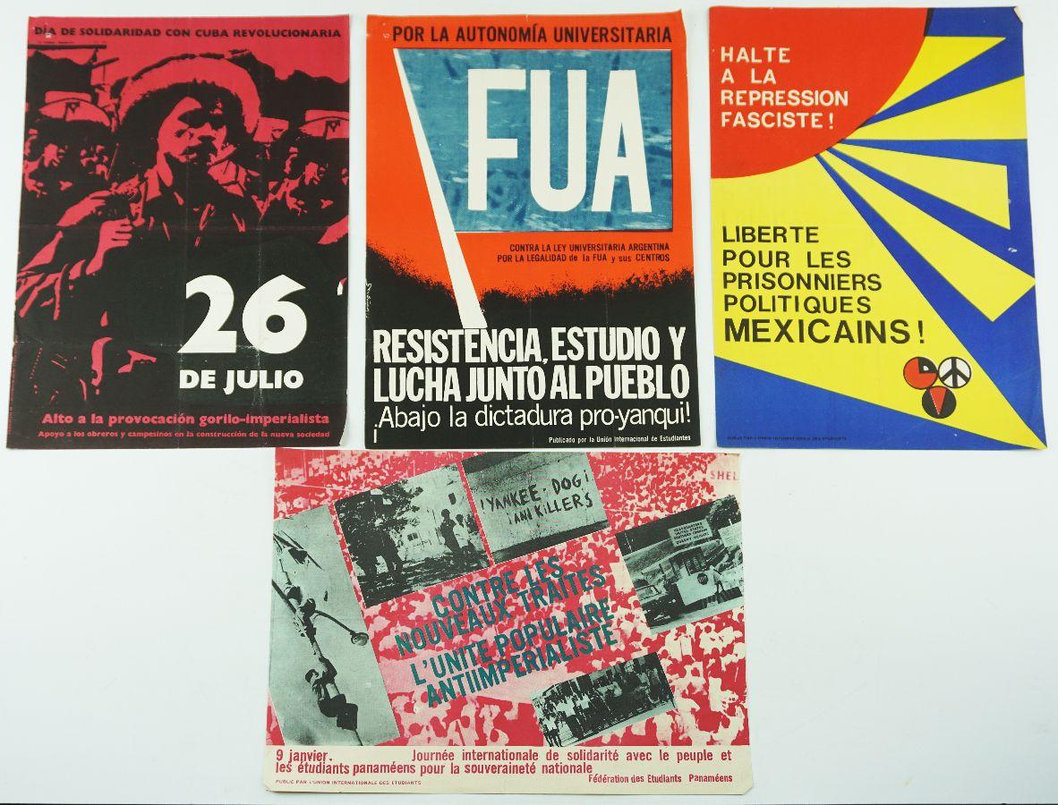 Cartazes da União Internacional de Estudantes (anos sessenta e setenta)